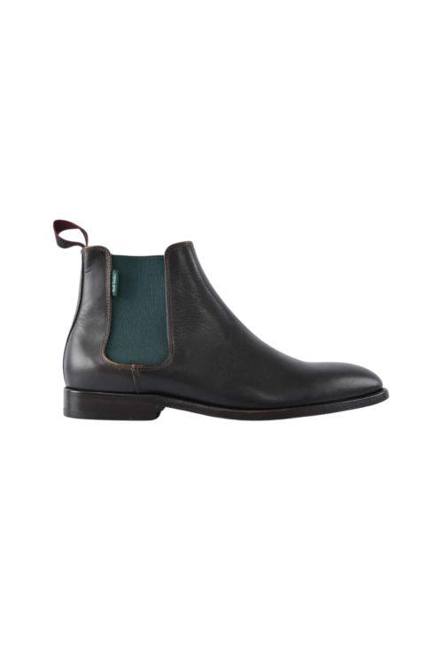 boots cuir choco