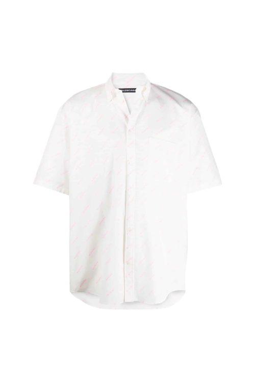 chemise blanc logo