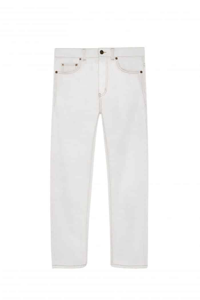 jeans blanc ysl