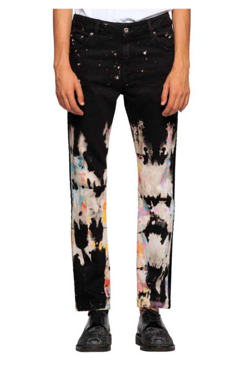 jeans peinture