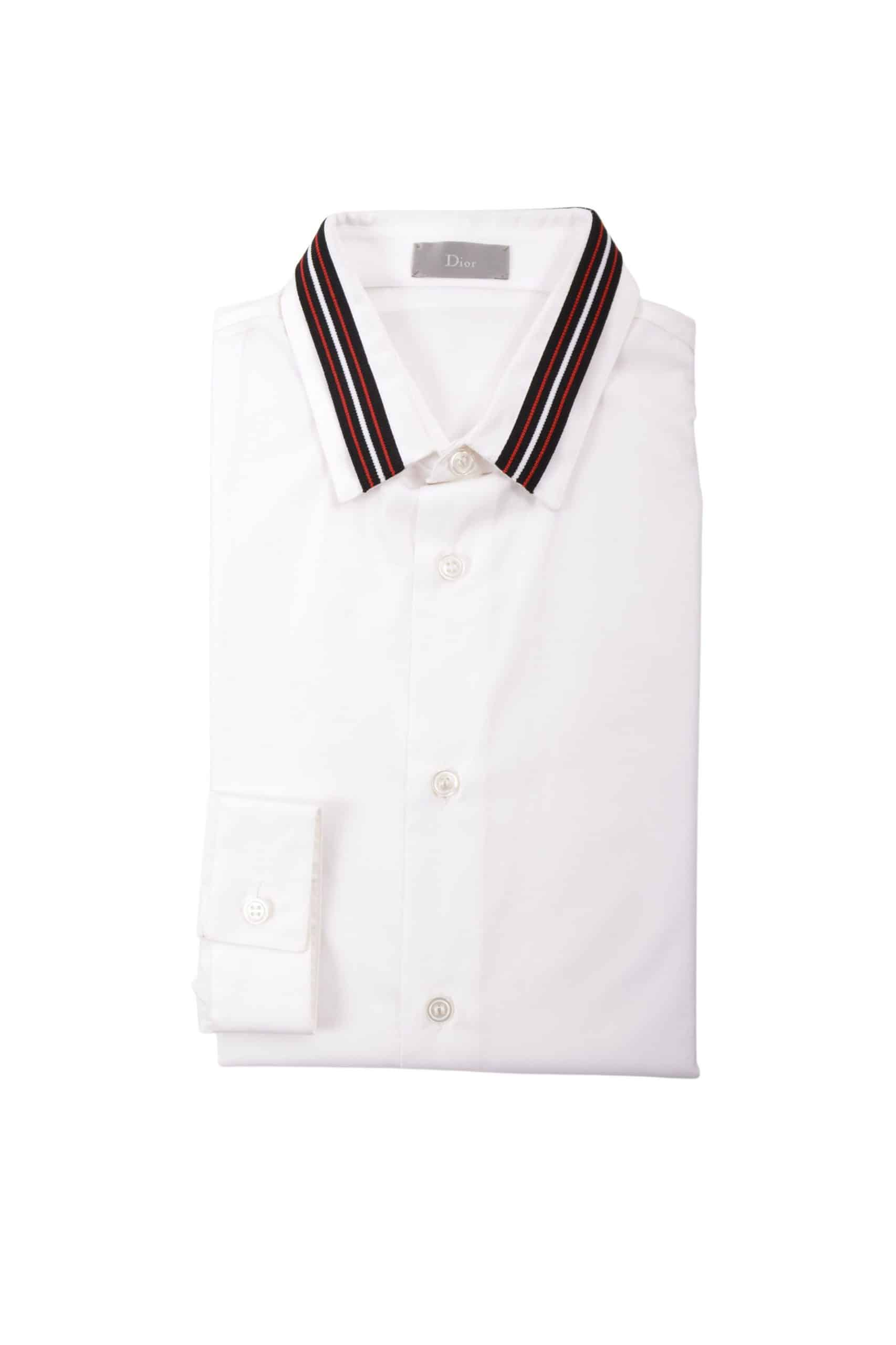 chemise col tricot
