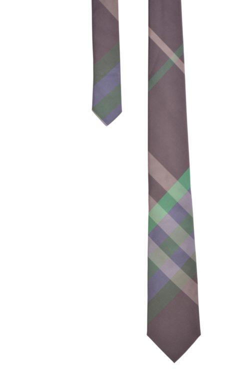 cravate BURB VIOLET VERT